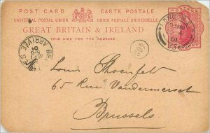 Entier Postal Stationery 1p London in 1901 for Brussels