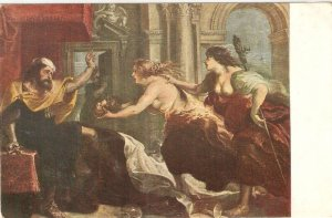 Rubens. El Bamquete de Tereo Fine painting, vintage Spanish postcard