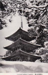Japan Snow Covered Landscape Of Chinzan-so