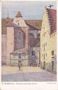 C. Budejovice. Postranni portal klast. Kostela , Czech Republic , 00-10s