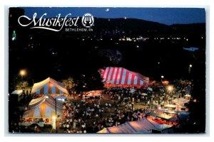 Postcard Musikfest, Bethlehem PA chrome 1996 *edge wear* N20