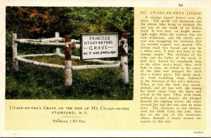 New York Stamford Indian Princess Ut-Say-An-Tha's Grave On The Side Of M...
