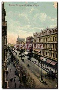 Argentina Argentina Old Postcard Avenida de Mayo plaza has