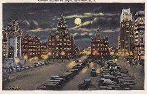 SYRACUSE, New York, PU-1931; Clinton Square By Night