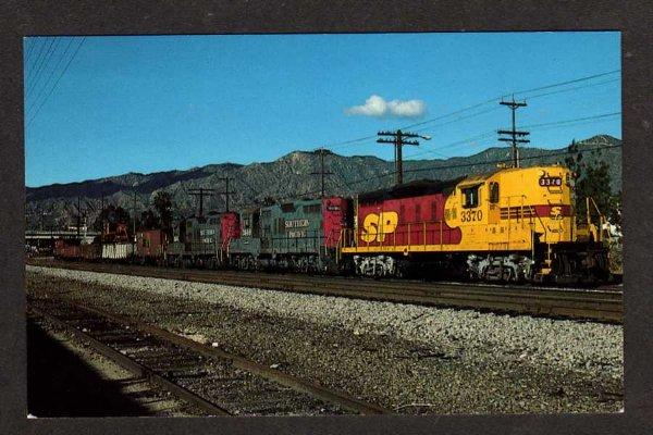 CA Southern Pacific Railroad Train Loco 3370 GLENDALE CALIFORNIA Calif Postcard