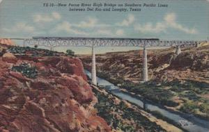 Tennessee New Pecos River High Bridge Between Del Rio and Langtry Curteich