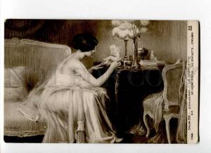 264247 NUDE Woman & CUPID by ENJOLRAS vintage SALON 1912 y PC