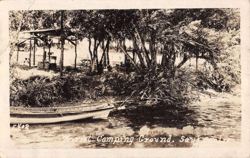 Sauk Centre Minnesota Tourist Camping Ground Real Photo Antique Postcard K66352