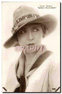 Postcard Modern Cinema Vilma Banky daughter Barbara desert