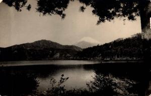 Japan Peerless Mt Fuji from Lake Ashi with mountains of Hakone 02.73