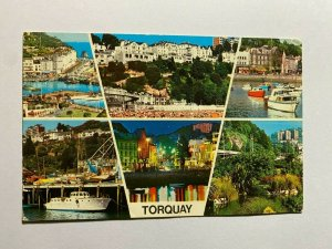 UNUSED VINTAGE MULTI VIEW POSTCARD - TORQUAY   (KK708)