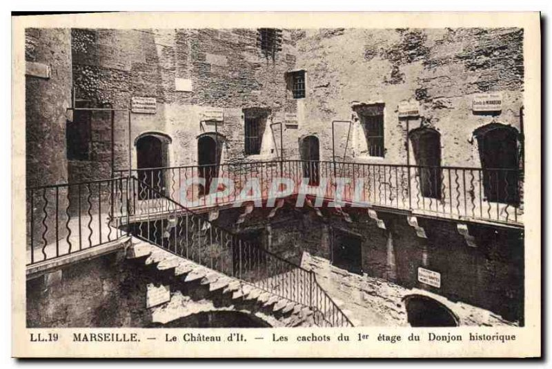 Old Postcard Marseille Le Chateau d'If The Dungeons of Dungeon historic 1st f...