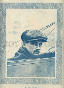 231412 FRANCE history of aviation Roland Garros Vintage poster