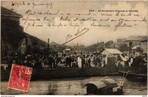 CPA INDOCHINA Le Boulevard Charner a Saigon VIETNAM (959190)