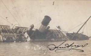 3 RPs: ALEXANDRA , Egypt , 1906 ; Ship Wreck of the AZIZZ DORES