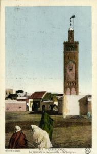 morocco, CASABLANCA, Mosque of the New Native Village, Islam (1920s)