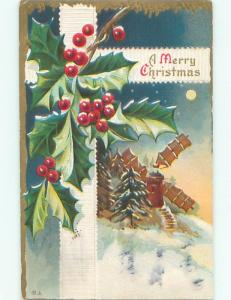 Divided-Back CHRISTMAS SCENE Great Postcard W9484