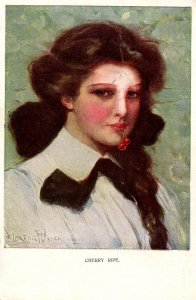 Cherry Ripe   Artist: Clarence Underwood.    (postal mark on face)