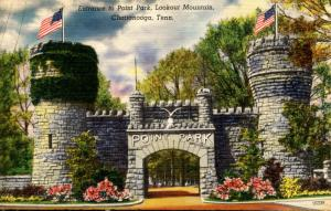 TN - Chattanooga. Lookout Mountain, Entrance to Point Park