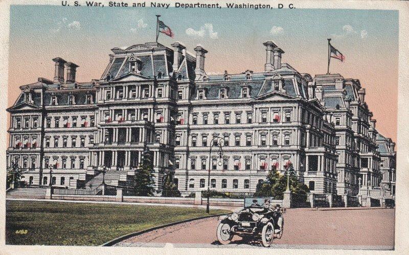 WASHINGTON D.C., PU-1921; U.S. War, State And Navy Department