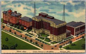 CINCINNATI, Ohio Postcard HOTEL ALMS Victory Parkway at McMillan Linen c1940s
