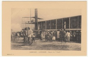 Benin; Dahomey, Cotonou, Departure Of Paddle Steamer Faadji PPC, By ER, Unused