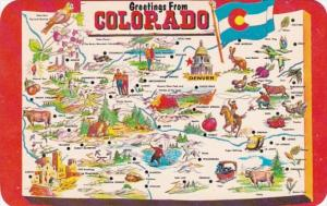 Greetings From Colorado With Map
