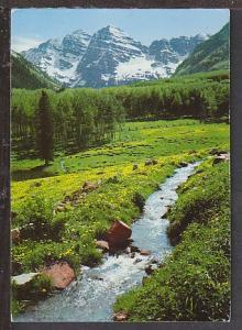 Maroon Belts Near Aspen CO Postcard BIN