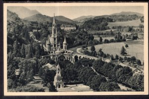 La Basilique vue de Chateau-Fort,Lourdes,France BIN