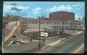 Greenville South Carolina sc Travel Lodge chrome postcard
