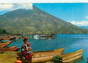 Vintage Postcard Vintage San Pedro Volcano Bay of Santiago Atitlan  # 1381