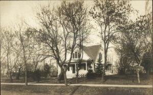 Home & Sidewalk - Tyndall SD Burnett Studio Cameo c1910 Real Photo Postcard