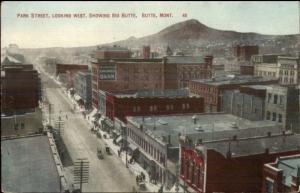 Butte MT Park St. Birdseye View c1910 Postcard
