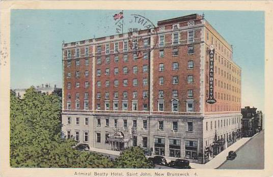 Canada New Brunswick St John Admiral Beatty Hotel 1938