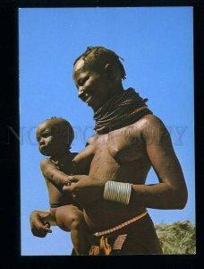 210031 KENYA El Molo Semi-nude mother & Child old postcard
