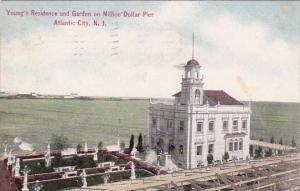 New Jersey Atlantic City Youngs Residence And Garden On Million Dollar Pier 1911