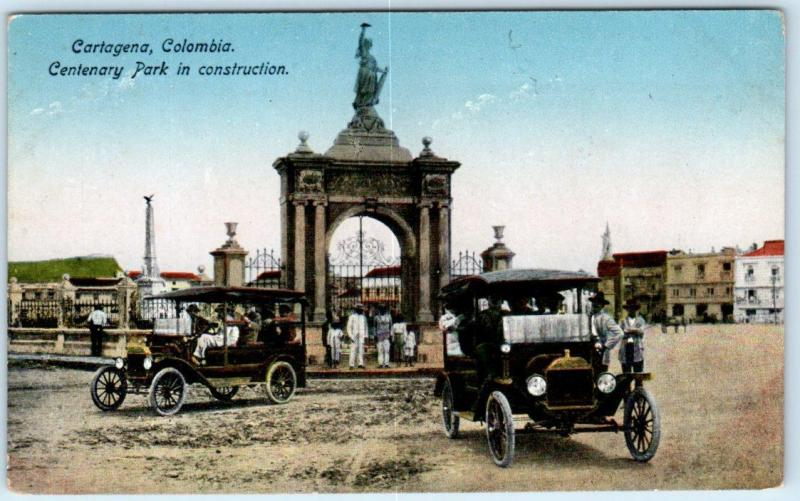 CARTAGENA, COLOMBIA  View of CENTENARY PARK Under Construction c1910s  Postcard