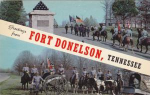Confederate Re-enacter soldiers, Fort Donelson, Tennessee , 40-60s