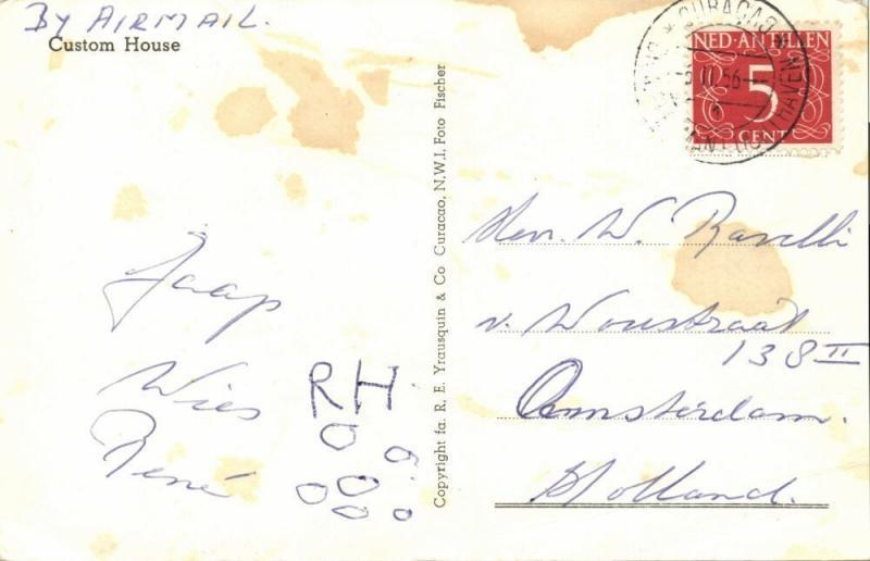 curacao, N.W.I., WILLEMSTAD, Custom House (1956) RPPC