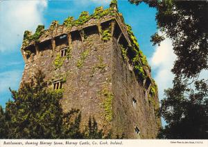 Ireland Cork Battlements Showing Blarney Stone Blarney Castle