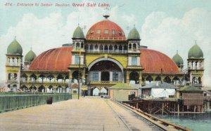 GREAT SALT LAKE, Utah, 1900-10s; Entrance to Saltair Pavilion