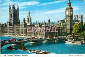 Modern Postcard The Houses of Parliament Bateaux London