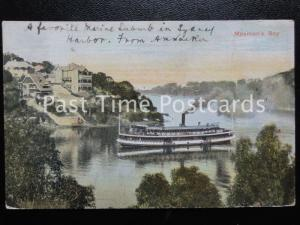 Vintage PC - Mosman's Bay, Sydney Harbour, showing Steam Ferry - Australia