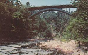 Highway Bridge - Ausable Chasm - Adirondacks, New York - pm 1958
