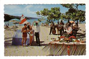 Beach Party on North Coast, Jamaica,