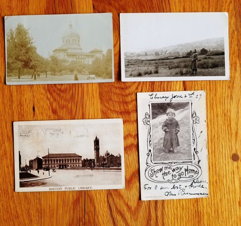 Real Picture Post Cards RPPC 1901 // 1909