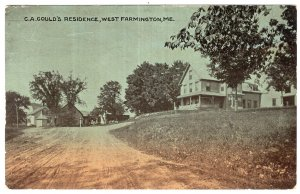 West Farmington, Me, C.A. Gould's Residence