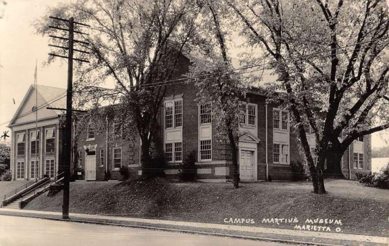 Marietta Ohio Campus Martius Museum Real Photo Antique Postcard K48946