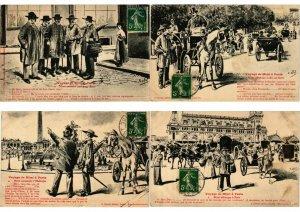 HISTORY VOYAGE DE MIMI A PARIS SERIE of 11 CPA E.D.Rot (L2790)