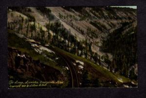ID The Loop Lewiston Grangeville Railroad Train Line Idaho Postcard RR PC